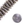 Czech Preciosa Ripple Beads California Silver Matt
